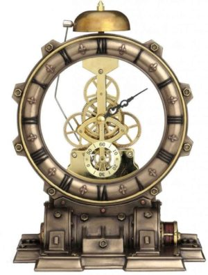 Photo of Steampunk Time Machine Bronze Clock 21.5cm