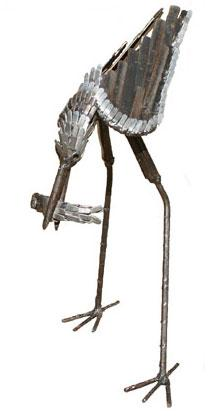 Photo of Stilt Bird Metal Garden Ornament (Hunting)