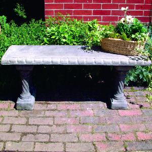 Photo of Straight Top and Column Bases Stone Bench