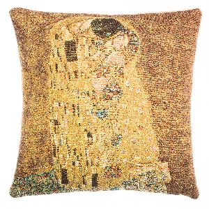 Phot of The Kiss By Gustav Klimt Tapestry Cushion Ii