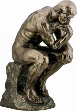 Photo of The Thinker Bronze Figure Large 48 cm (Auguste Rodin)