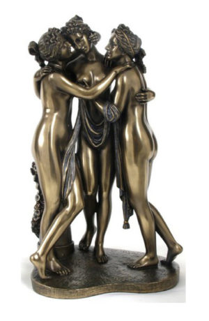 Photo of The Three Graces Bronze Statue 29 cm