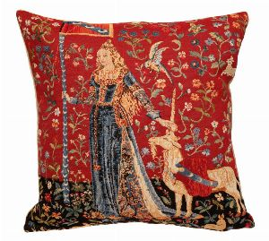 Phot of The Touch Medieval Tapestry Cushion