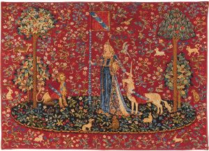Phot of The Touch Medieval Wall Tapestry