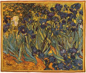 Phot of Van Gogh Irises Wall Tapestry