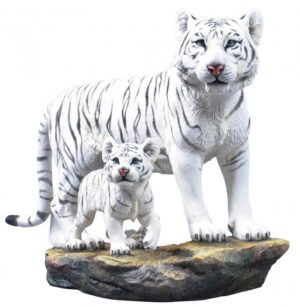 Photo of White Tiger and Cub Large Figurine