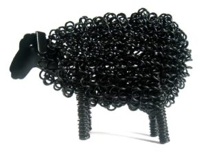 Photo of Wiggle Lamb Metal Sculpture (Black)