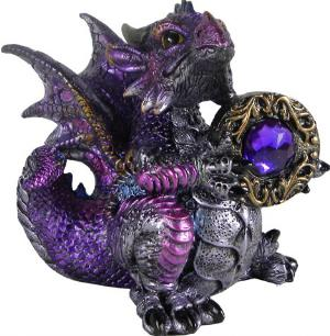Photo of Amethyst Dragonling Figurine (Alator) 13cm
