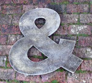Photo of Ampersand Stone Wall Plaque