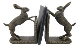 Photo of Bramble and Foxglove Hare Bookends by Harriet Glen