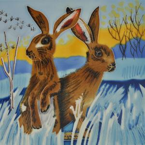 Photo of Bright New Day Hares Wall Decor 20cm