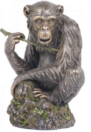Photo of Chimpanzee Bronze Statue