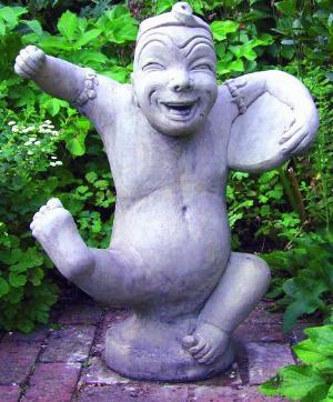 Photo of Chinese Entertainer Stone Statue