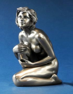 Photo of Contentment Bronze Nude Female Figurine