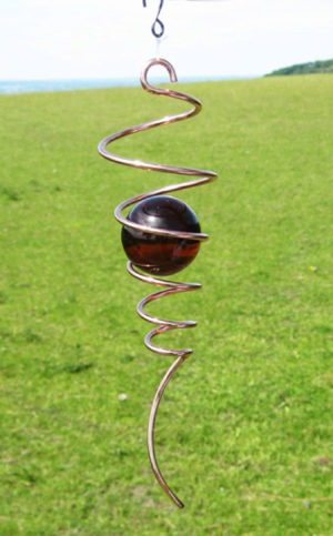 Photo of Copper Spiral Tail Accessory Amber Marble