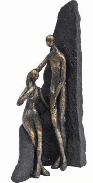 Photo of Couple Antique Bronze Sculpture