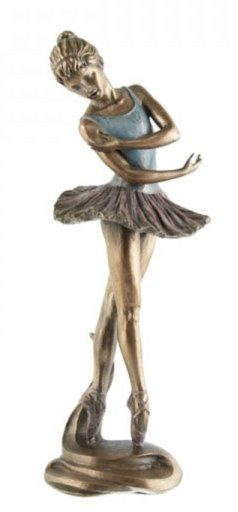 Photo of Dancing Ballerina Bronze Figurine 27 cm