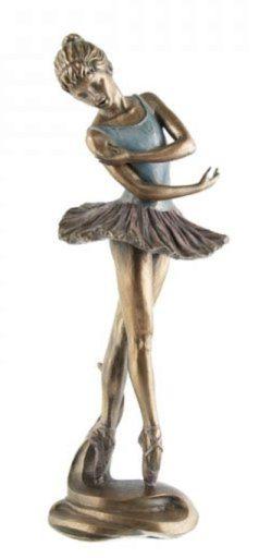 Photo of Dancing Ballerina Bronze Figurine 27 cm