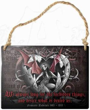 Photo of Desire Forbidden Things Small Steel Plaque