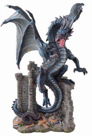 Photo of Dragon in Castle Ruins Figurine