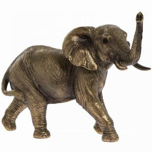 Photo of Elephant Bronze Figurine 17cm Leonardo Collection