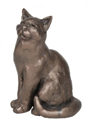 Photo of Ellie the Cat Bronze Ornament