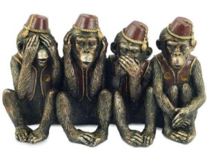 Photo of Four Wise Monkeys Bronze Ornament