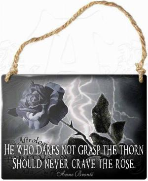 Photo of He Who Dares Not Grasp The Thorn Should Never Crave The Rose Small Steel Plaque
