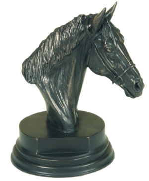 Photo of Horse Head Sculpture on Plinth (Small)