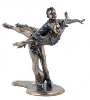 Photo of Ice Skating Bronze Figurine Austrian Waltz