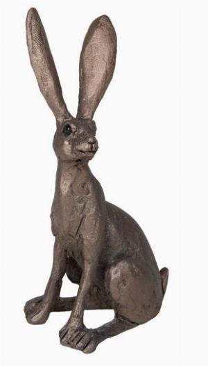 Photo of Jaz Hare Sitting Bronze Figurine Small (Thomas Meadows) Frith Minima