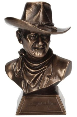 Photo of John Wayne (Licensed) Bronze Cowboy Bust 17cm with Certificate