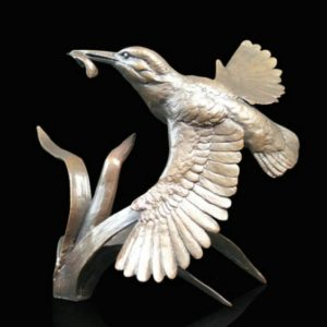 Photo of Kingfisher in Flight Figurine (Limited Edition) Michael Simpson