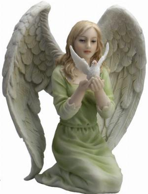 Photo of Kneeling Dream Heavenly Peace Angel Figurine