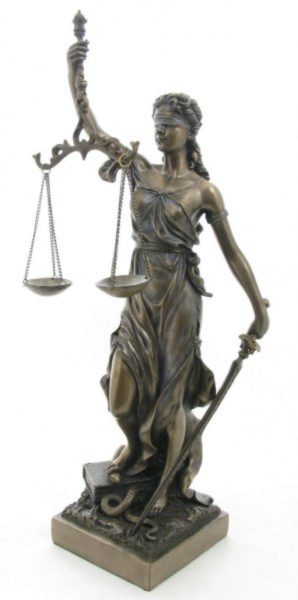 Photo of Lady Justice Bronze Figurine 33 cm
