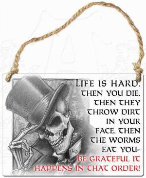 Photo of Life is Hard Small Steel Plaque