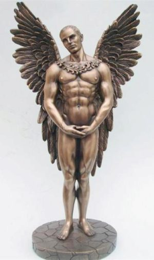 Photo of Male Angel Bronze Figurine