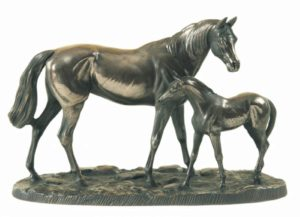 Photo of Mare and Foal Sculpture (Large)