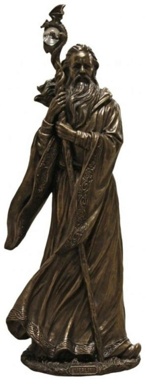 Photo of Merlin Bronze Figurine 47cm Large