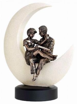 Photo of Midnight Engagement Bronze Figurine