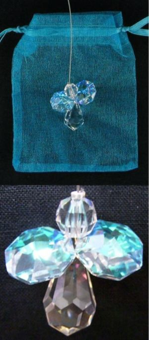 Photo of Mini Crystal Protection Angel with Aurora Borealis Wings