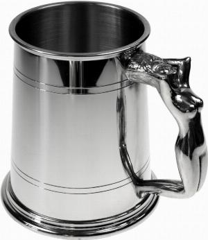 Photo of Nymph Handle Pewter Tankard