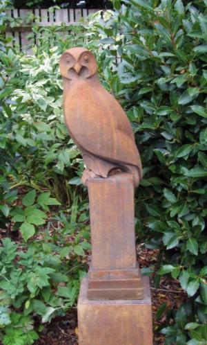 Photo of Owl Stone Sculpture (Art of Stone)
