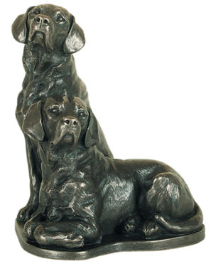 Photo of Pair of Labradors Bronze Ornament