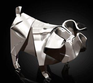 Photo of Pig Hallmarked Sterling Silver Miniature NOMI Design