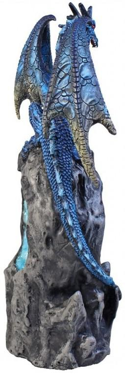 Photo of Portal of Ice Dragon Figurine Crystal Light Feature 27cm
