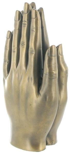 Photo of Praying Hands Bronze Sculpture 16 cm