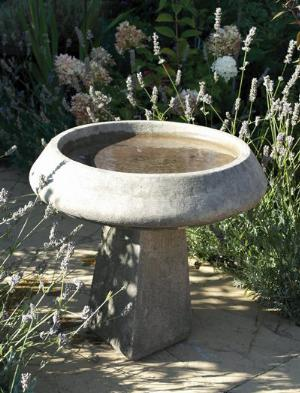 Photo of Pure and Simple Stone Birdbath
