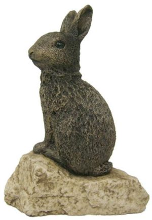 Photo of Rabbit on Rock Ornament (Stoned on Nature)