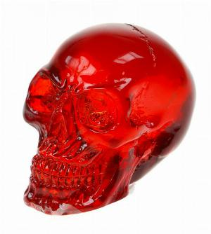 Photo of Red Solid Clear Resin Skull (Small)